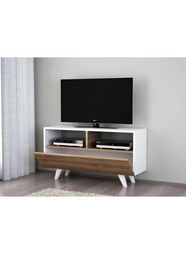 Dekorister Novella K3 Tv Ünitesi Beyaz-Ceviz Renkli